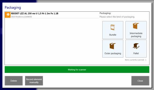 Packaging Screenshot